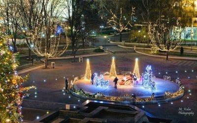 Коледна украса в град Пазарджик